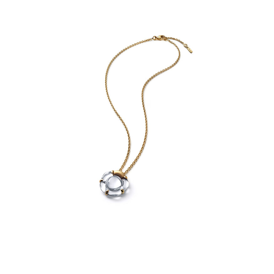 B FLOWER NECKLACE  Mirror clear Image