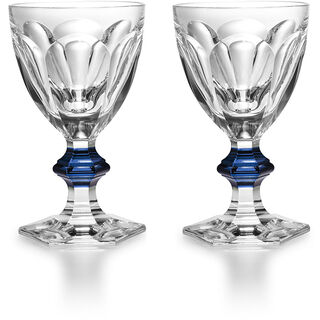 HARCOURT 1841 GLASS, Clear & blue