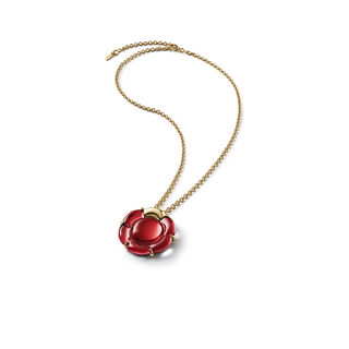 B FLOWER NECKLACE  Red mirror Image