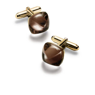 MÉDICIS CUFFLINKS, Brown mordore