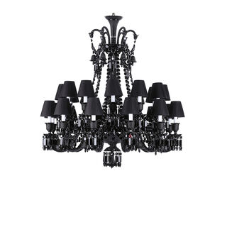 ZÉNITH CHANDELIER 8 TO 24 LIGHTS  Black Image