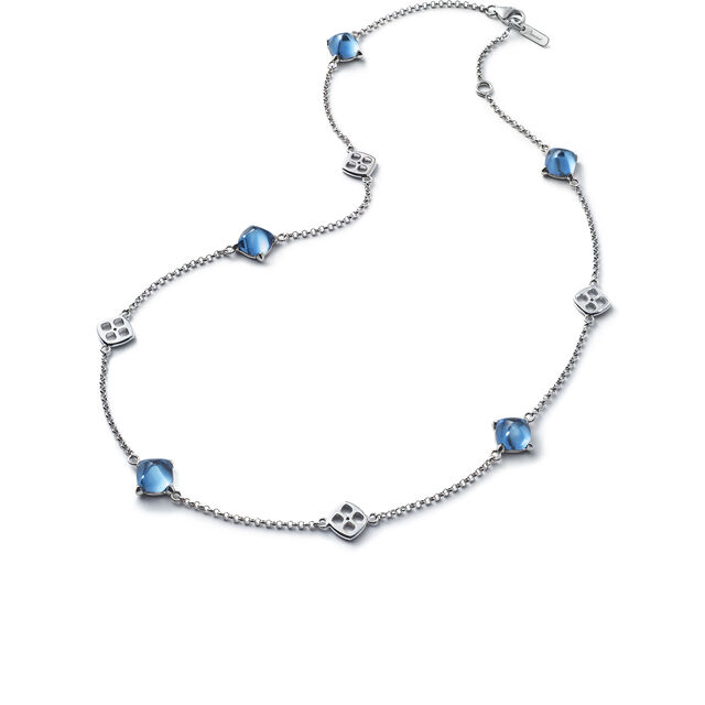 MINI MÉDICIS NECKLACE, Riviera blue
