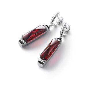 LOUXOR EARRINGS, Red mirror