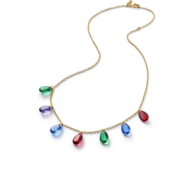 CRYSTAL DROPS OF COLOR BACCARAT PAR MARIE-HÉLÈNE DE TAILLAC NECKLACE, Gold