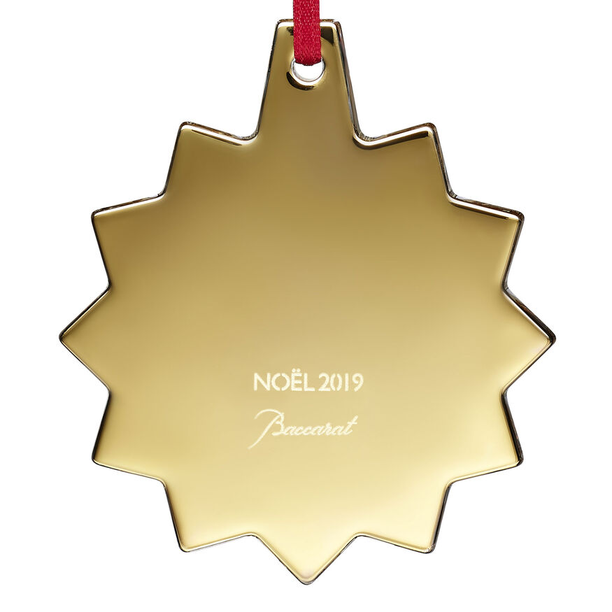 CHRISTMAS ANNUAL ORNAMENT ENGRAVED 'NOËL 2019', Gold - 3