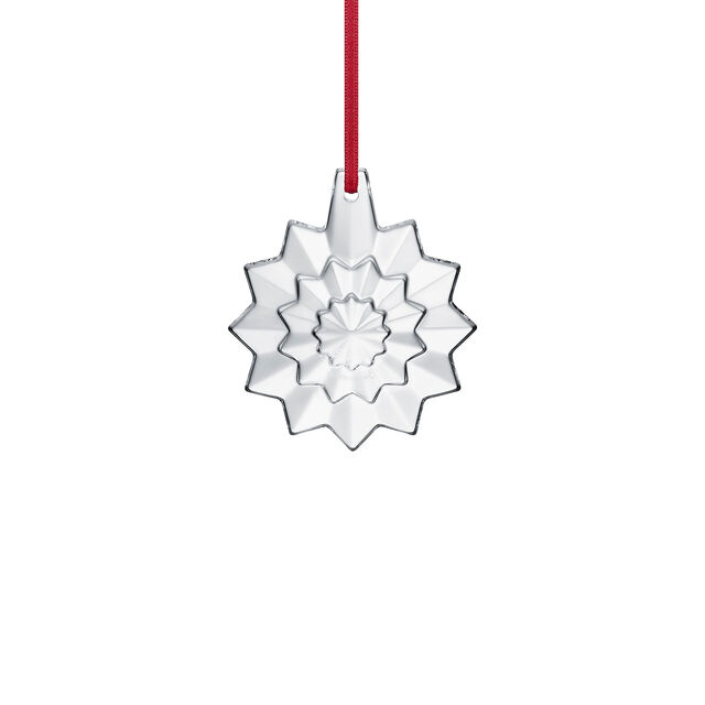 CHRISTMAS ANNUAL ORNAMENT ENGRAVED 'NOËL 2019', Clear