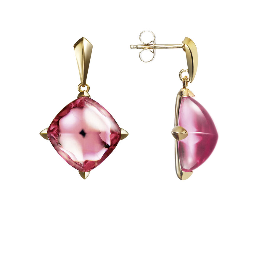MÉDICIS EARRINGS  Pink mirror Image - 2