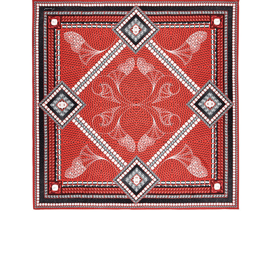 LOUXOR SILK TWILL SCARF  Red Image