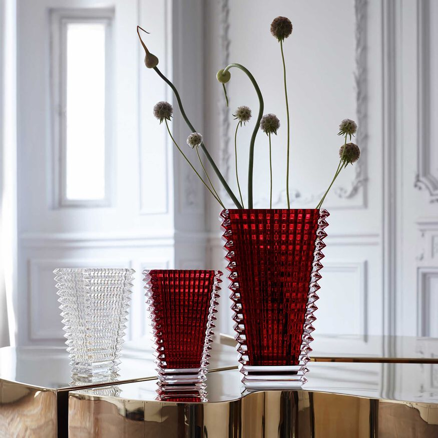 EYE VASE RECTANGULAR S, Red - 2