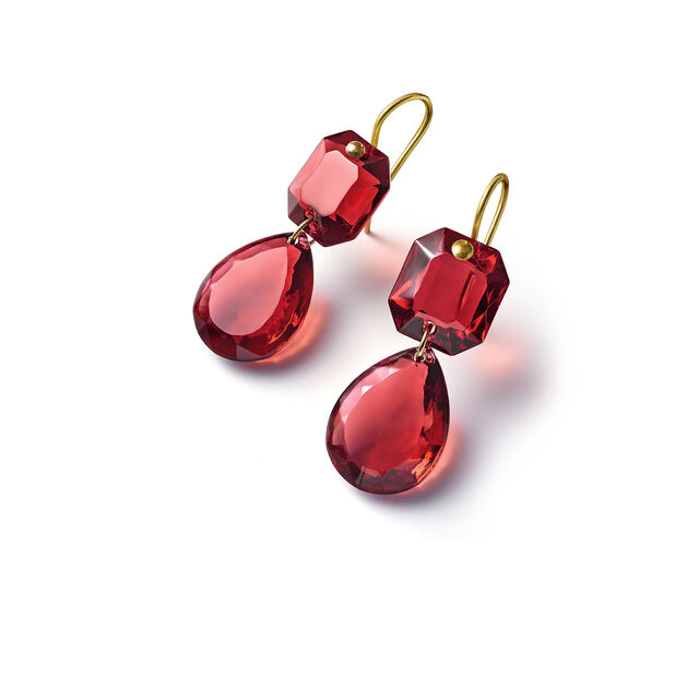 CRYSTAL DROPS OF COLOR BACCARAT PAR MARIE-HÉLÈNE DE TAILLAC EARRINGS, Red