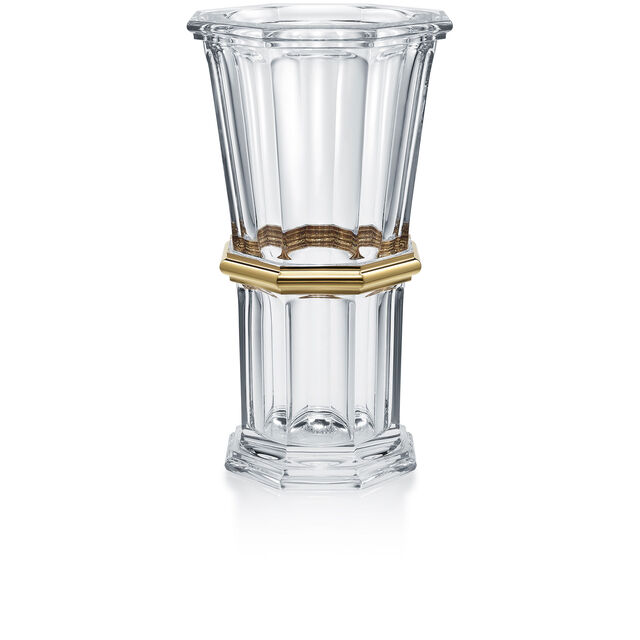 HARCOURT 1841 VASE, Clear & gold