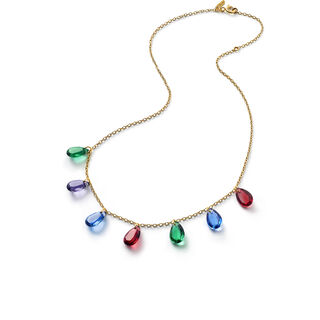 CRYSTAL DROPS OF COLOR BACCARAT PAR MARIE-HÉLÈNE DE TAILLAC NECKLACE  Gold