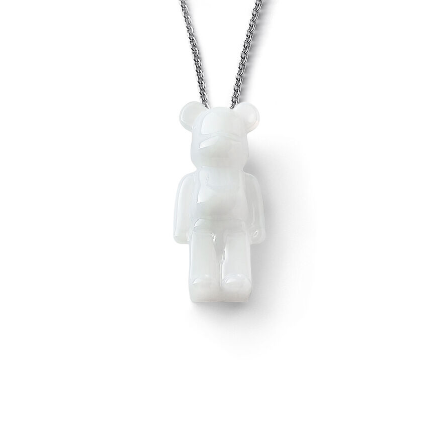 BACCARAT BE@RBRICK NECKLACE, White