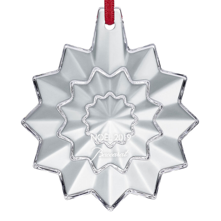 CHRISTMAS ANNUAL ORNAMENT ENGRAVED 'NOËL 2019', Clear - 2