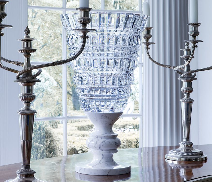 NEW ANTIQUE VASE, Clear