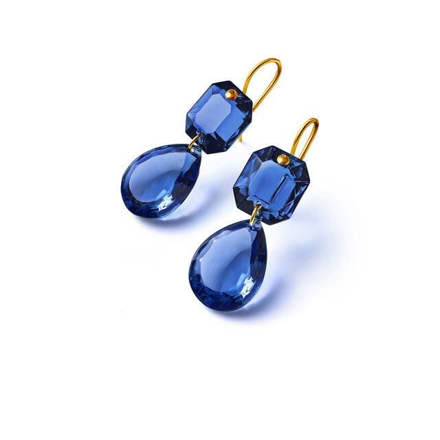 CRYSTAL DROPS OF COLOUR BACCARAT PAR MARIE-HÉLÈNE DE TAILLAC EARRINGS, Blue