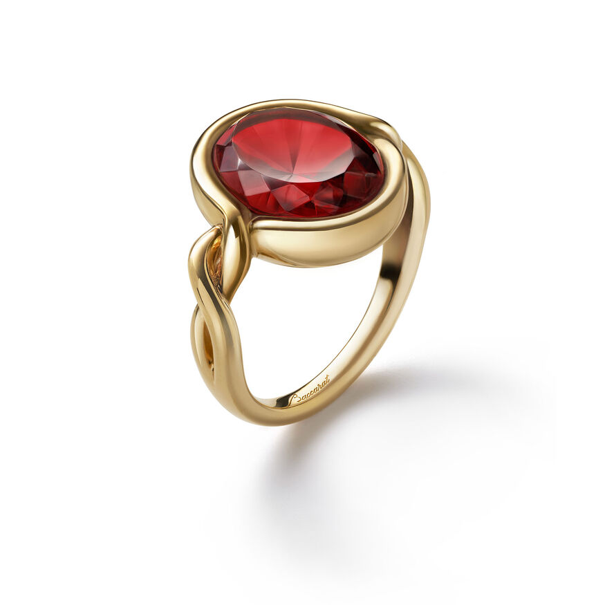 Croisé Ring red vermeil, Red