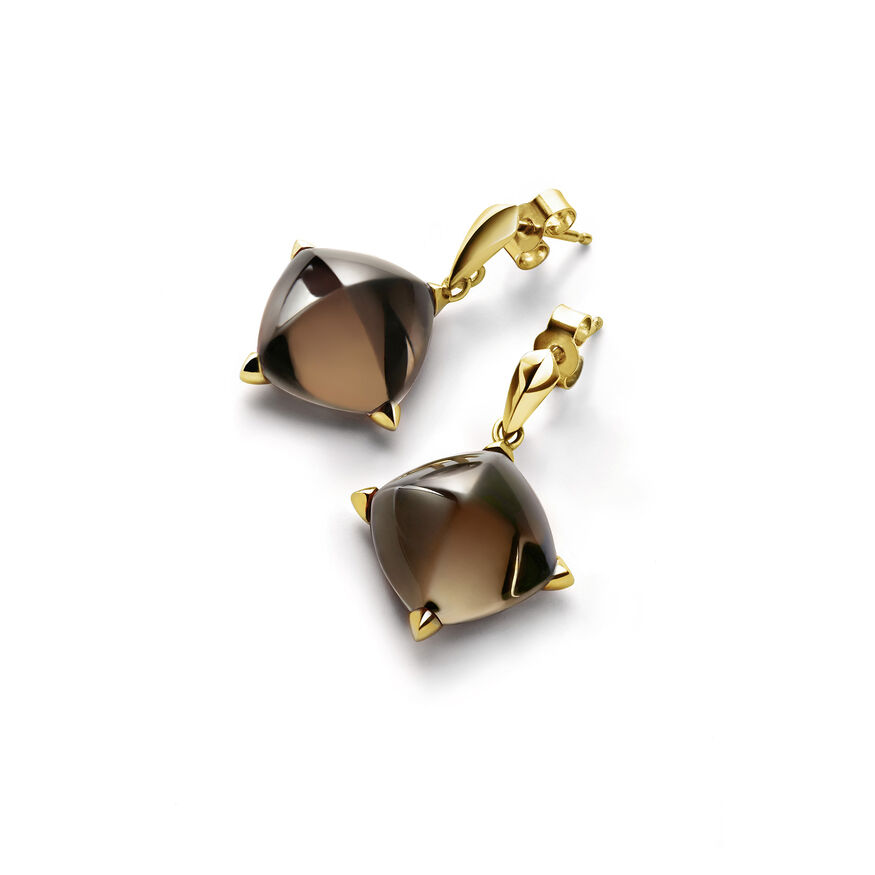 MÉDICIS EARRINGS, Brown mordore