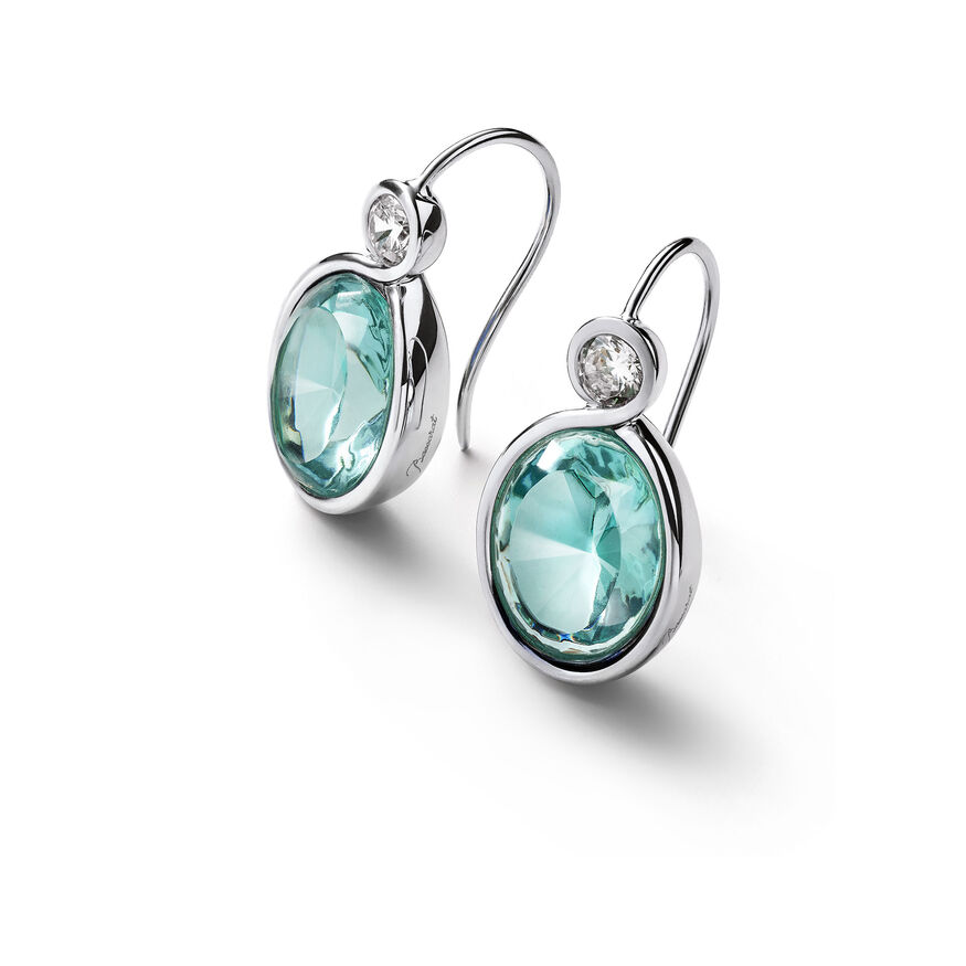 Croisé Earrings turquoise silver, Turquoise