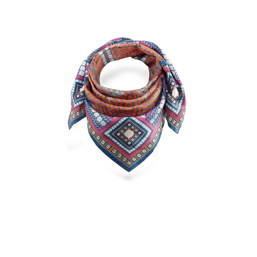 LOUXOR SILK TWILL SCARF  Red Image - 2
