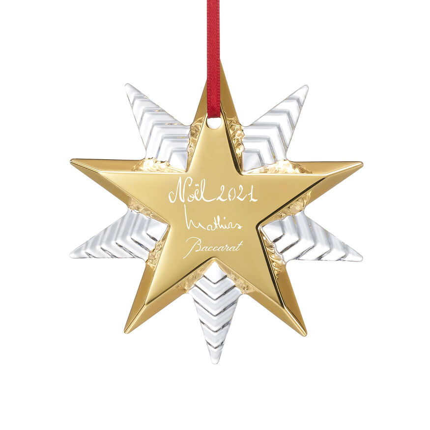 NOEL ANNUAL ORNAMENT 2021, Clear & gold - 2