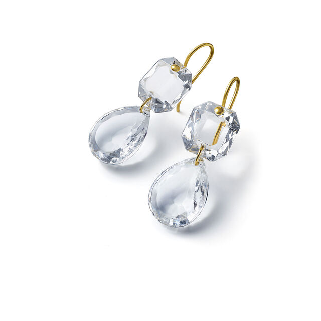 CRYSTAL DROPS OF COLOR BACCARAT PAR MARIE-HÉLÈNE DE TAILLAC EARRINGS, Clear