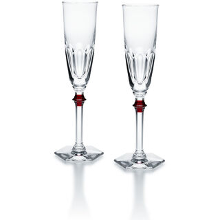 HARCOURT EVE FLUTE  Clear & red