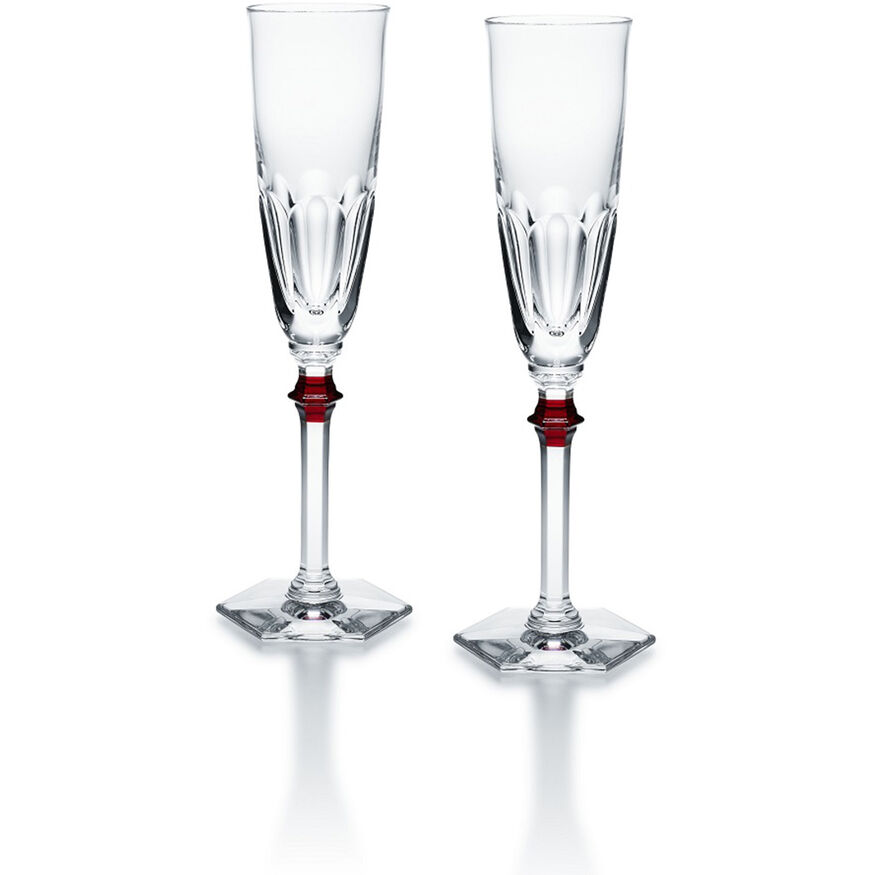 HARCOURT EVE FLUTE, Clear & red