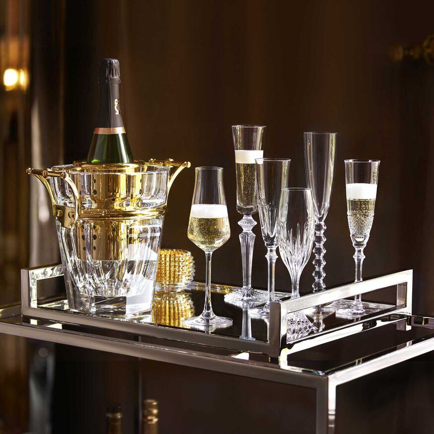 HARCOURT CHAMPAGNE COOLER, Clear & gold - 2