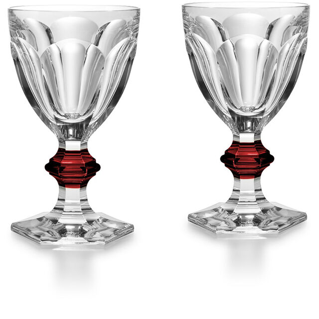HARCOURT 1841 GLASS, Clear & red