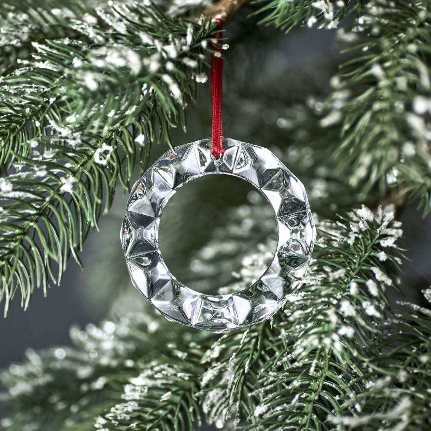 CLEAR CHRISTMAS WREATH ORNAMENT,  - 2
