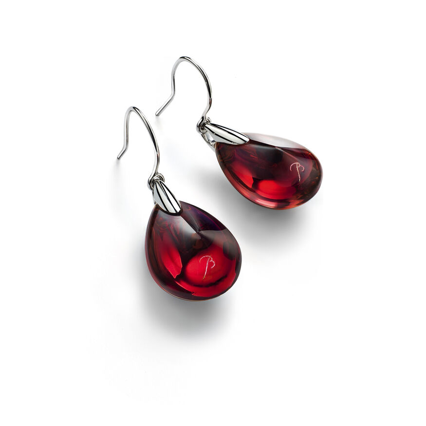 PSYDÉLIC EARRINGS, Iridescent red - 1