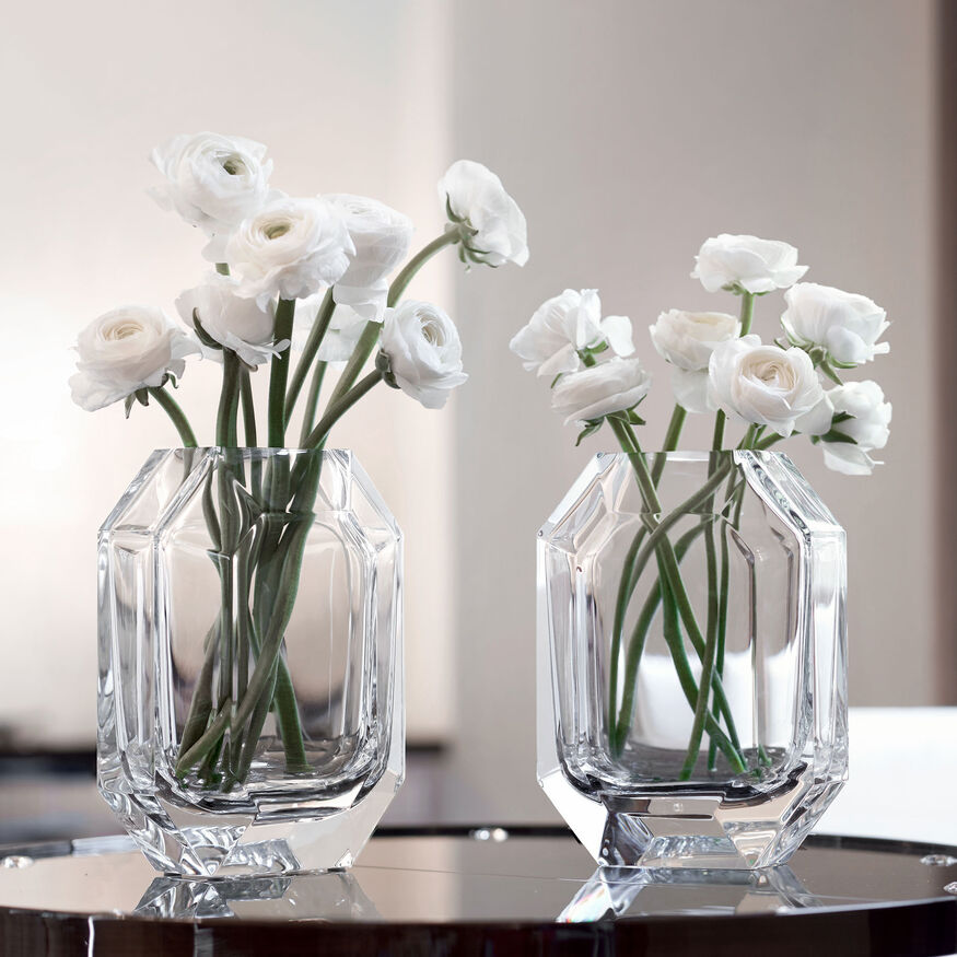 OCTOGONE VASE, Clear - 3