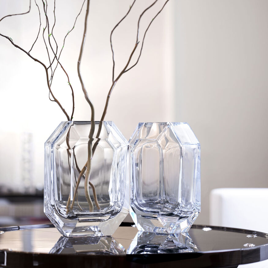OCTOGONE VASE, Clear - 4