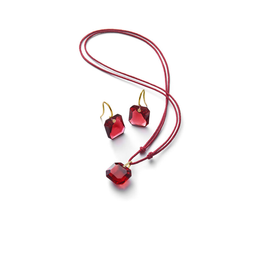 BACCARAT PAR MARIE-HÉLÈNE DE TAILLAC EARRINGS, Red